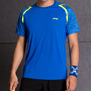 Li-Ning Badminton T-shirt: 2018 NEW Men Profession Badminton Jersey,Lining ATSM571