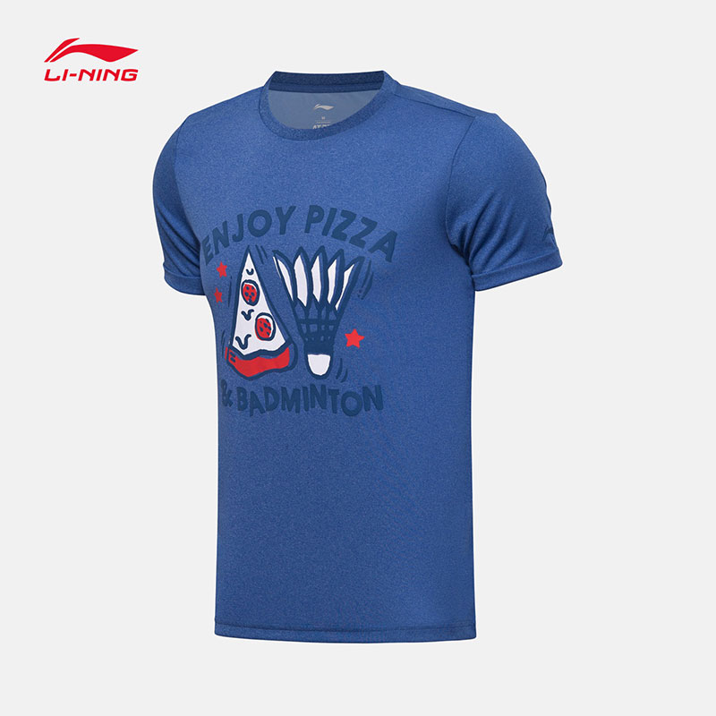 Li-ning Cultural Shirt 2017 Li Ning Men Badminton Short-sleeved T-shirt AHSM323