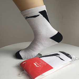 Li Ning Socks National Team Towel Socks Thick Non-slip Absorbent Sweat Cushioning Lining CP