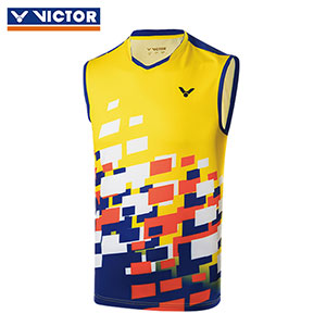 Victor Badminton Sleeveless 2018 Malaysia Men Badminton Tournament T-shirt Victor T-80004 O/E