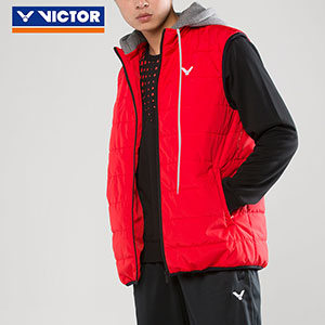 Victor 2018 Charcoal Warm Cotton Material Badminton Sleeveless Jacket Victor J-75700