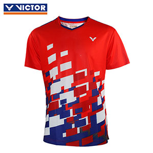 Victor Badminton Jersey 2018 Malaysia Men Badminton Tournament T-shirt Victor T-80003 O/E