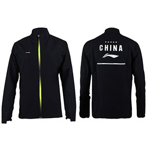 Li-Ning Badminton Jacket: 2018 All England Open CHINA Women Badminton Jacket Receiving Awards,Lining AYYN002