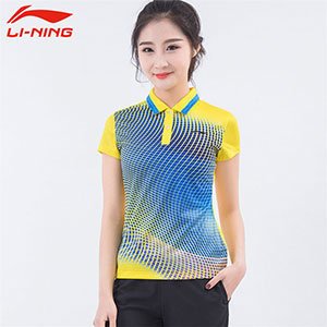 Women Table Tennis T-shirts Li-Ning Ping pong Team Jerseys Li-ning APLM186