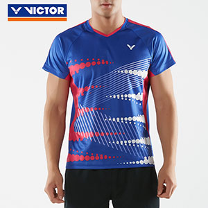 Victor Badminton Jersey Slim-Type 2018 Men Badminton Tournament T-shirt Victor T-80009