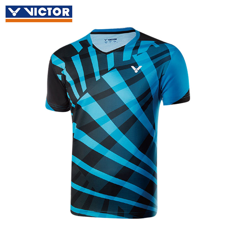 Victor Badminton Jersey 2018 Men Badminton Tournament T-shirt Victor T-80013