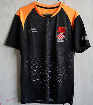 2018 China National Team Sponsorship Li-Ning PingPong Jersey Men Qatar Table Tennis T-shirt Lining CP