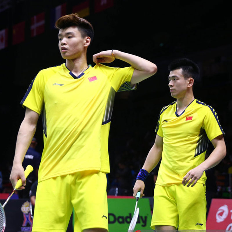 Men Badminton Jersey: 2018 Thomas-Uber Cup Li-Ning Badminton Tournament T-shirt,Li-Ning AAYN003