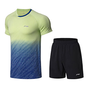 Men Badminton Jersey Shorts 2018 Li-Ning AT DRY Quick-Drying Badminton Set Lining AATN059-1-2