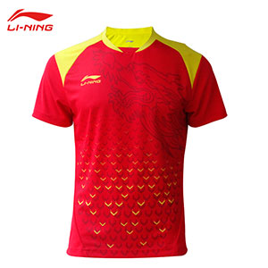 2018 Li-Ning PingPong Jersey Men Qatar World Championships Table Tennis T-shirt TD Lining AAYM315-1 AAYM317-1-2