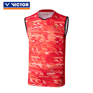 Victor Badminton Sleeveless July 2018 South Korea Men Badminton T-shirt Slim Style Victor T-85001 C/D