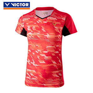 Victor Badminton Jersey July 2018 South Korea Women Badminton T-shirt Slim Style Victor T-86000 C/D