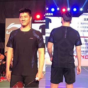 LiNing Badminton Jersey Men 2018 Tournament Badminton T-shirt Luminous discoloration Li-Ning AAYN309