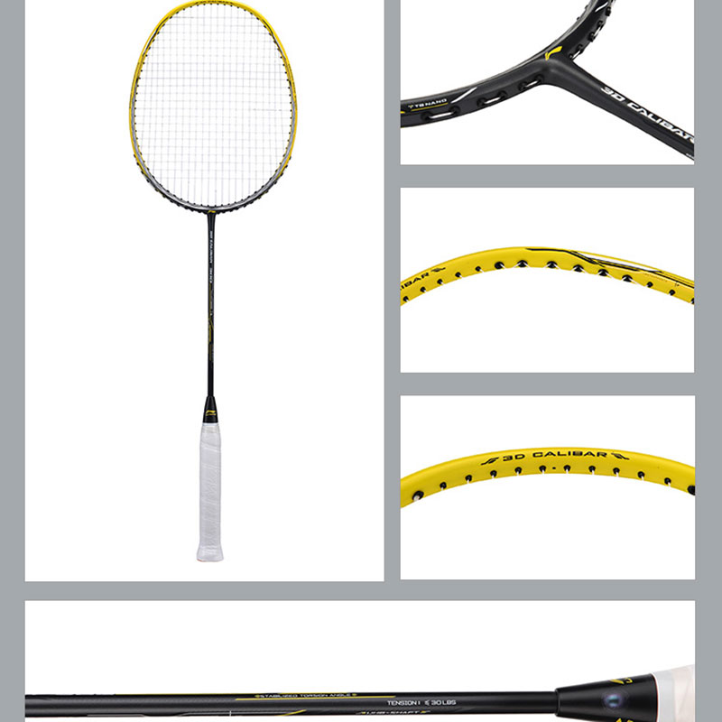 Li Ning Badminton Racket 2018 3D CALIBAR 300 Badminton Racket Full Carbon,Li-ning AYPM404-1