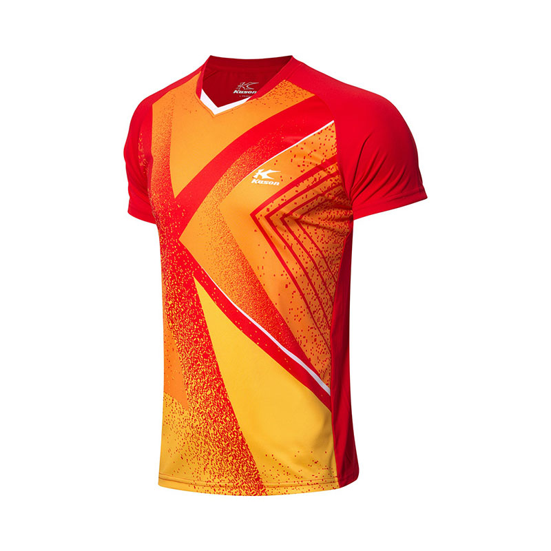 Kason Badminton T-shirt: 2018 Men Badminton Jersey Moisture Wicking Quick Drying ,Kason FAYN019