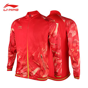 Li-Ning Table Tennis Jacket 2018 Asian Games Men Ping pong National Team Jacket Li-ning AWDN937
