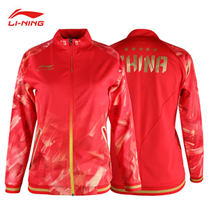 Li-Ning Table Tennis Jacket 2018 Asian Games Women Ping pong National Team Jacket Li-ning AWDN902-1-2