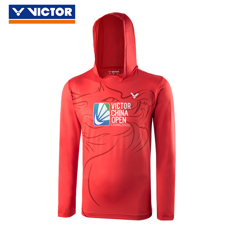 Victor Badminton Sweater 2018 Victor China Open Badminton Long Sleeve Hooded Sweater Victor S-80082