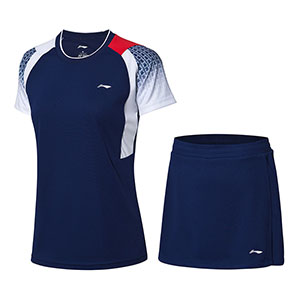 Women Badminton Jersey Shorts 2019 Li-Ning Quick-Drying Cool Badminton Set Lining AATP018