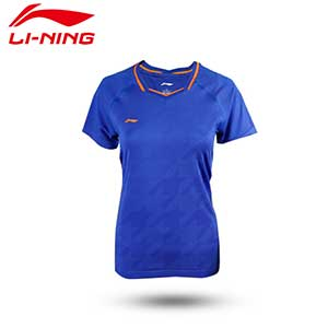 Women Badminton Jersey: 2019 Li-Ning All England Badminton Tournament T-shirt,Li-Ning AAYP028