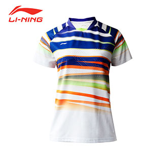 Women Badminton Jersey: February 2019 Li-Ning Badminton Tournament T-shirt,Li-Ning AAYM048