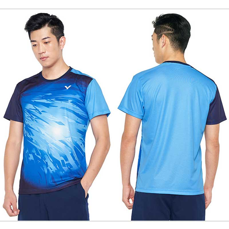 Victor Badminton Jersey 2019 Malaysia Men Badminton T-shirt Victor T-90002TD