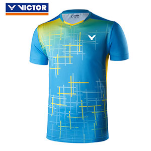 Victor Badminton Jersey 2019 V-neck knitting Men Badminton T-shirt Victor T-90007