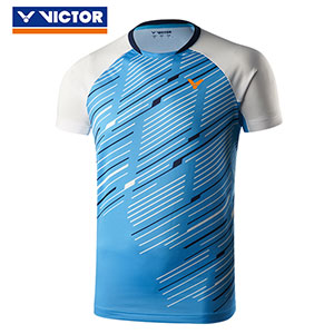 Victor Badminton Jersey 2019 V-neck knitting Men Badminton T-shirt Victor T-90011