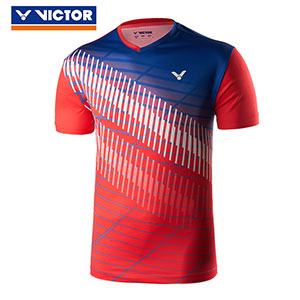 Victor Badminton Jersey 2019 V-neck knitting Men Badminton T-shirt Victor T-90012