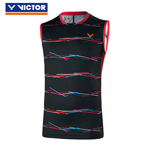 Victor Badminton Sleeveless 2019 Men Badminton T-shirt Slim Style Victor T-90001 Y