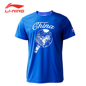2019 Li-Ning PingPong Training Cultural Shirt Men Table Tennis T-shirt Lining AHSP199