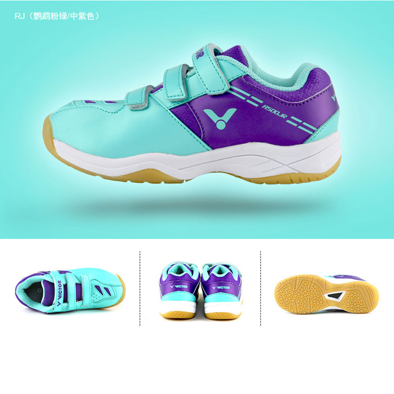 Children Badminton Shoes 2019 VICTOR Badminton Shoes Ultra-light Breathable , VICTOR A500JR
