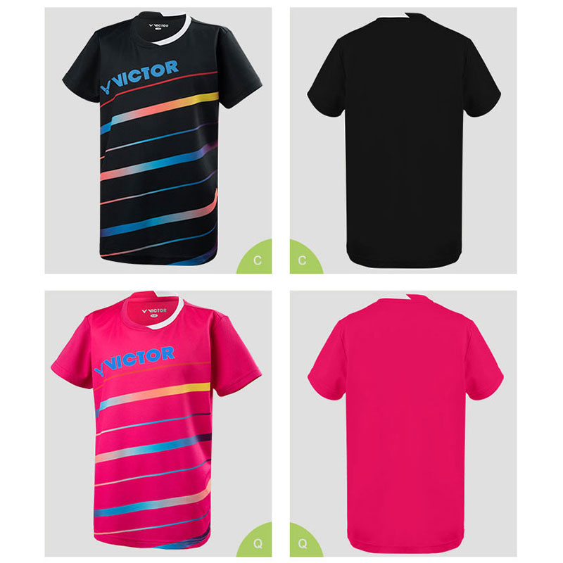 VICTOR Kids Badminton T-shirt 2019 Children Round Neck Training T-shirt VICTOR T-92032
