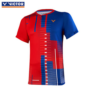 Victor Badminton Jersey August 2019 Malaysia Team Men Badminton T-shirt Victor T-95000 Tight-fitting