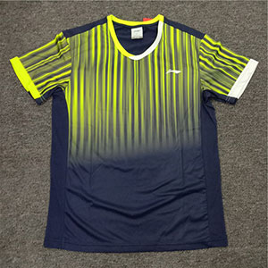 Men Badminton T-shirt:Lining Badminton Jersey Round Neck Short Sleeve Li-ning AAYM147