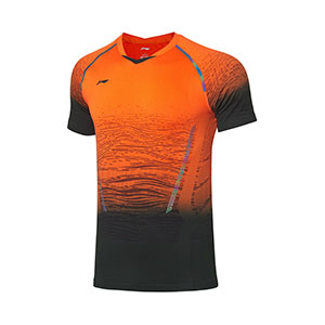 Men Badminton T-shirt 2019 Li ning Badminton Tournament Jersey, Li-ning AAYP317-1-2