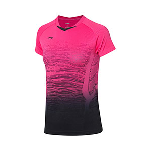Women Badminton T-shirts 2019 Li-ning Badminton Quick-drying short-sleeved T-shirt Li-ning AAYP118