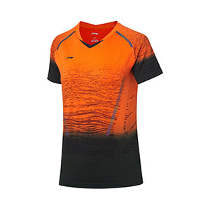 Women Badminton T-shirt 2019 Li ning Badminton Tournament Jersey, Li-ning AAYP142-1-2