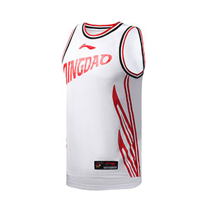 Li ning Basketball Jersey 2019 CBA Qingdao Team Basketball Tournament Jersey Li-ning AAYP417-1