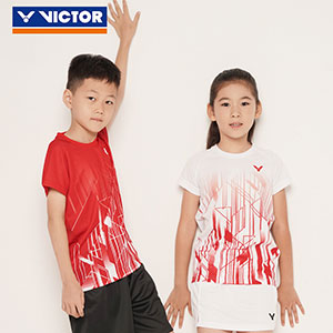 Children Badminton T-shirt 2020 Quick-drying VICTOR Badminton Jersey VICTOR T-02002TD