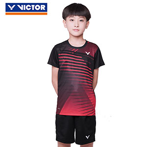 Children Badminton T-shirt 2020 Quick-drying VICTOR Badminton Jersey VICTOR T-02001TD
