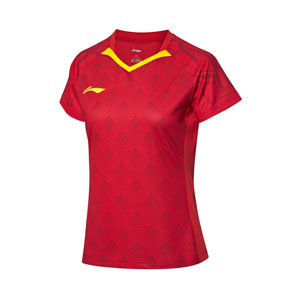 Women Table Tennis T-shirt 2020 Li Ning National Team TD Table Tennis Tournament Jersey Li-ning AAYQ044-1-2