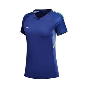 Women Badminton Jersey Li-Ning Quick-Drying BadmintonT-shirt TD Li ning AAYN0241-2-3