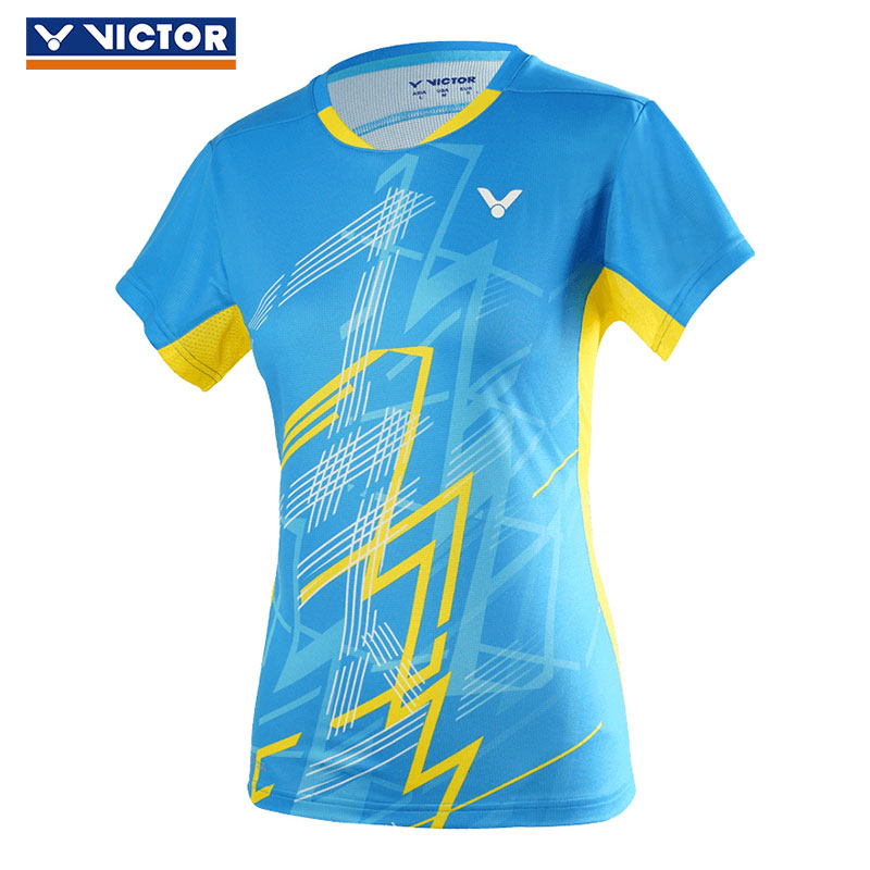 *NEW* VICTOR PerfectDry Non-Static Unisex Sports T-Shirt Blue 6774