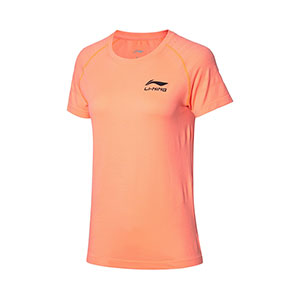 Li ning Table Tennis Tshirt 2020 Li Ning Woman Table Tennis Short-sleeved T-shirt Li-ning AHSQ036-1-2