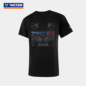 2020 VICTOR Malaysia Open Badminton Round neck T-shirt Badminton Memorial cultural shirt VICTOR T-00022
