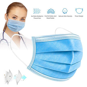 100 PCS Medical Surgical Mask Face Mask Anti Dust Mouth Filter Anti Bacterial Disposable Mask 3 Layers Protective Masks