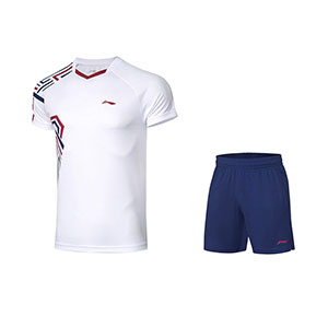 Li ning Badminton Tshirt shorts 2020 Li Ning Men Badminton Short-sleeved T-shirt Set Li-ning AATQ087-1-2-3-4