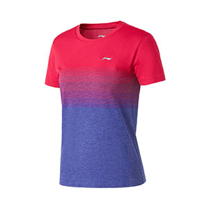 Women Badminton T-shirt 2020 Li-Ning Quick-drying Cool Badminton T-shirt Li ning AAYQ142