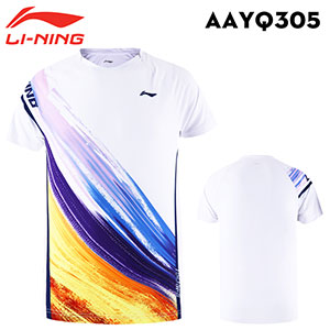 Men Badminton T-shirt 2020 120G ultralight material Li-Ning Badminton T-shirt Li ning AAYQ305